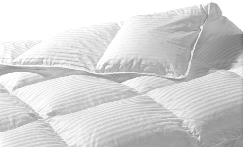 Highland Feather Manufacturing 58-Ounce Santa Monica Goose Down Duvet, King, White (Santa Highland)