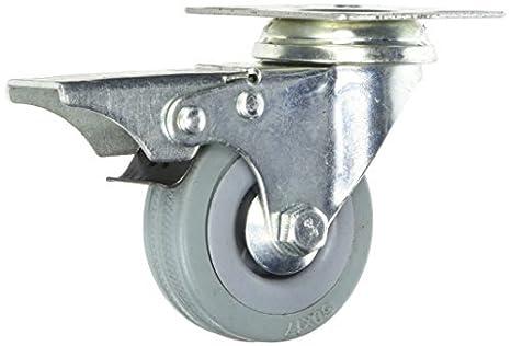 Roda Caster Placa DealMux 2 polegadas Tire Carrinho de Compras Top Rubber