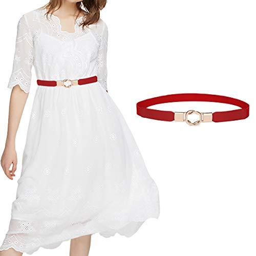 Skinny Belt for Dresses Retro Stretch Ladies Waist Belt Set PS1_XRE