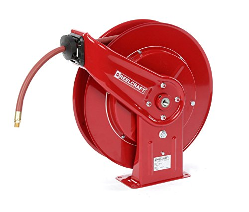 Reelcraft 7925-OLP-HTH 3/4'' x 25ft High Operating Temperature Hose Reel w/ Hose