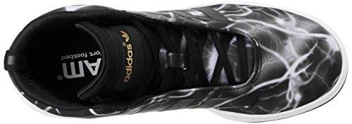 adidas Veritas mid - Zapatillas de nailon para hombre Negro Negro y blanco