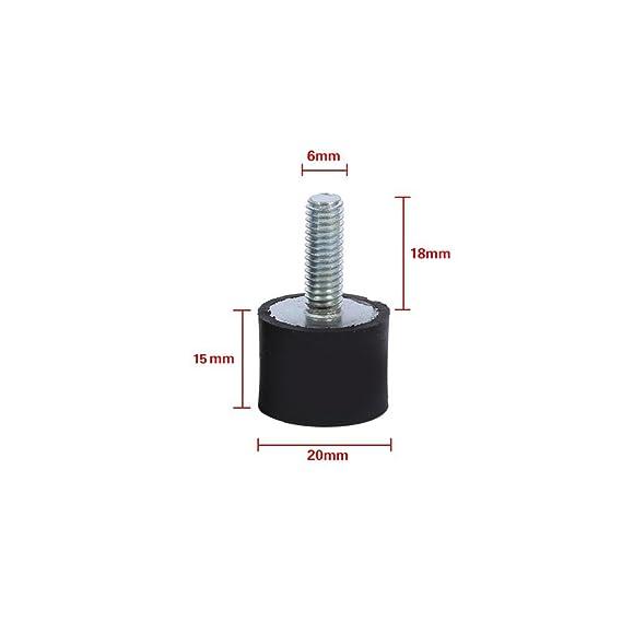 Soportes aisladores de goma, 4 piezas M8 M6 Aislador antivibración monta el bloque silencioso para carro de bobinas de barco(VD20*15 M6*18): Amazon.es: ...