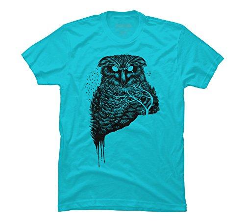 Autumn Owl Men's Small Ocean Blue Graphic T Shirt - Design By Humans