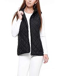 Golooper More Women's Vest-Lightweight Quilted High Collar Zip Vest Padded Gilet