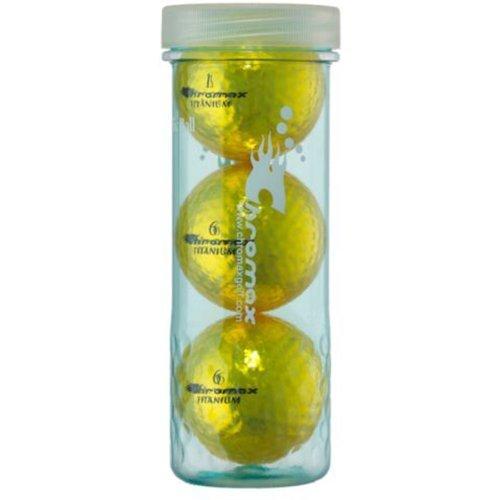 Chromax M1X Golf Balls (Pack of 3), Gold Gold Golf Ball