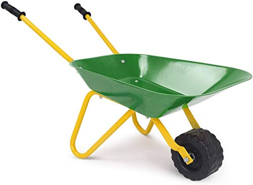 HAPPYGRILL Kids Metal Wheelbarrow