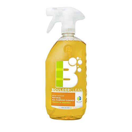 Boulder Clean Natural All-Purpose Cleaner, Valencia Orange, 28 oz (Pack of 4)