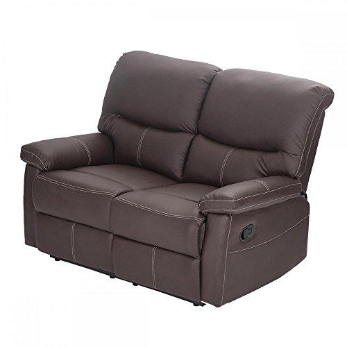 Amazon.com: Juego de sofá reclinable de piel reclinable ...