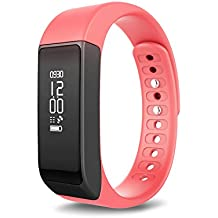 Toprime Fitness Activity Tracker Wearable Waterproof Smart Band with Multi-Functions (Red)
