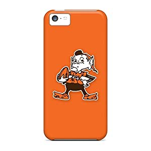 Rugged Skin Cases Covers For Iphone 5c- Eco-friendly Packaging(cleveland Browns 4)