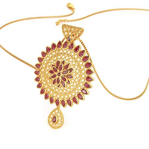 Joyalukkas Ratna Collections 22k  916  Yellow Gold and Ruby Pendant