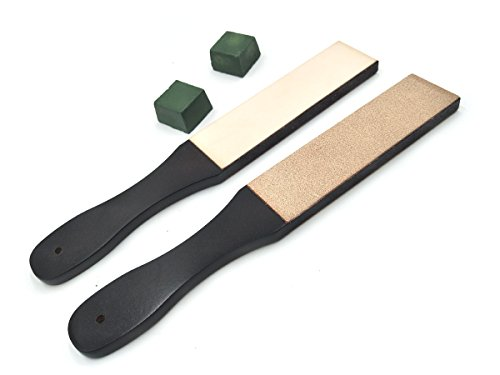 Inton Leathercraft Knife Blade Sharpener Whetstone Stand Rouge Stick Leather Sharpener Grinding Set (Japanese) by Inton (Image #1)