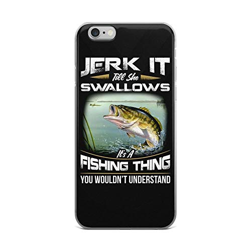 iPhone 6 Plus/6s Plus Pure Clear Case Cases Cover Jerk It Till She Swallows It's a Fishing Thing Largemouth Bass
