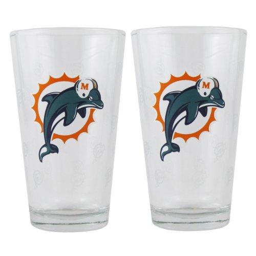 NFL Miami Dolphins Boelter Pint Glass - Glasses Miami