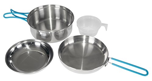 Stansport One Person Stainless Steel Cook Set, Silver by Stansport