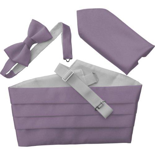 Lilac Cummerbund (Great British Tie Club Men's Cummerbund Sets: Includes Bow Tie and Hanky/Pocket Squares (Lilac))