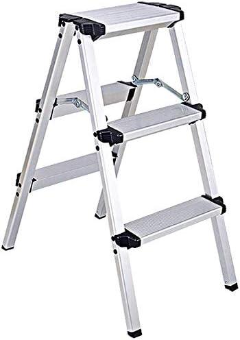 lqgpsx Escalera de Aluminio de 2 a 5 peldaños para Adultos niños y niños Cocina portátil portátil con Escalera Interior para hogar Peso drodamiento 150 kg (Color: 3 Pasos): Amazon.es: Hogar
