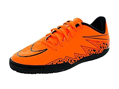 Nike Jr. Hypervenom Phelon II IC Indoor Soccer Shoe (Total Orange) 10C