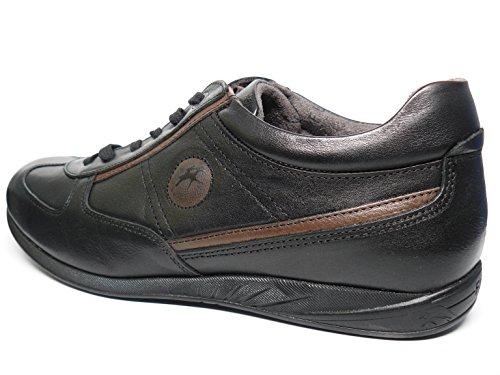Zapatos hombre con cordones FLUCHOS - Piel Negro tipo deportivo - 8789 – 54 negro