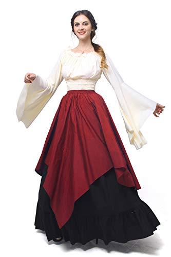 3e670cc72fa7 NSPSTT Womens Renaissance Medieval Costume Dress Gothic Victorian Fancy  Dresses