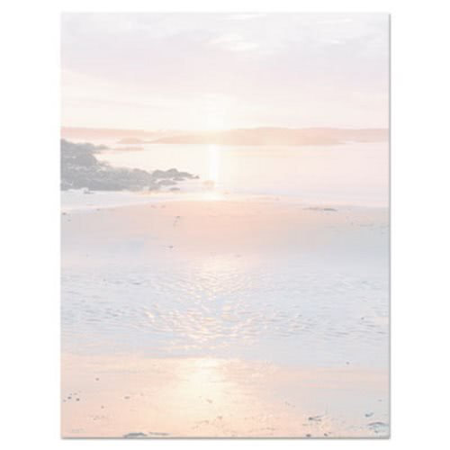 Geographics 46902S Design Paper, 24 lbs., Shoreline, 8-1/2 x 11, Earthtones, 100/Pack