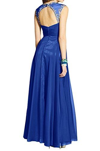 Hochwertig Ivydressing Promkleid Damen Chiffon Strass Festkleid Abendkleider Lang Royalblau Mit 66p5wqr