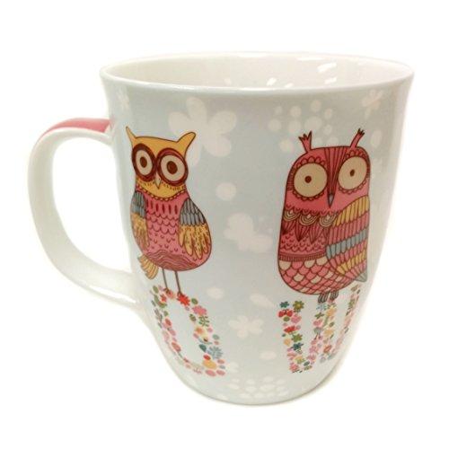 SVIV Curve New Bone China Coffee or Tea Mug, 16oz (OWLS)