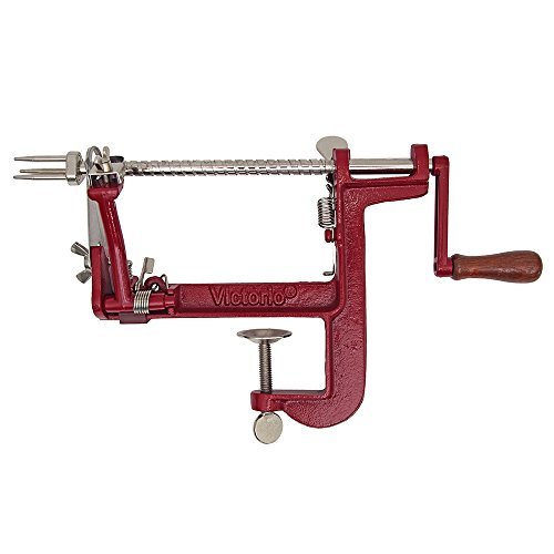 (Johnny Apple Peeler by VICTORIO VKP1011, Cast Iron, Clamp Base)