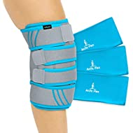fa24799b08 Vive Knee Ice Pack Wrap - Cold/Hot Gel Compression Brace - Heat Support  Strap