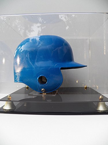 Baseball Batting Helmet Display Case with Two Tier Base and Stand