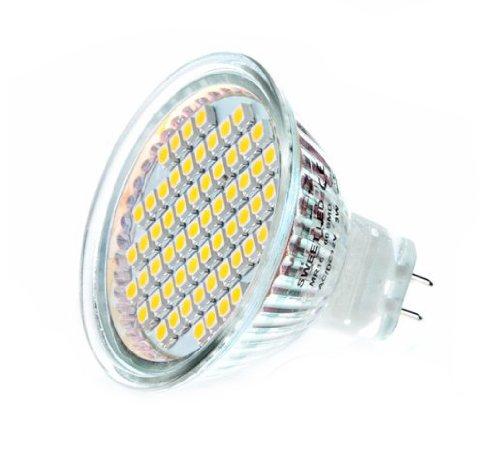 10 X MR16 / GU5,3 [AC 220V] 60SMD Bombilla LED 6000k Blanco Frío 4W 290Lm 120° ángulo: Amazon.es: Iluminación