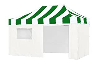10' X 15' PRO Easy POP up Wedding Canopy Party Tent Gazebo Event Tent with Side Walls and Roller Bag,Kelly|White