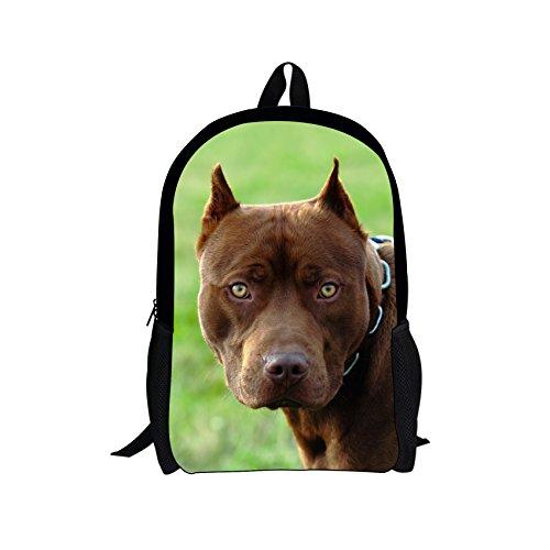 Most Dangerous Sharks - Showcool Kids' Backpacks 3D printer polyester Black Zipper bag Pitbull photos Monroe's most dangerous dogs Backpack For Boys Girls School Book Bags