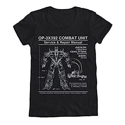 Transformers Optimus Prime Manual Women's T-Shirt