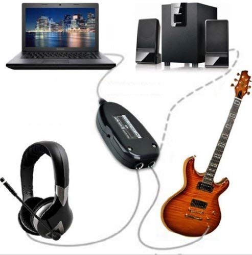 Niyam-Guitar-Link-Cable-USB-Interface-Audio-Adapter-to-Jam-and-Record-in-PC-or-Mac-Computer-with-Killer-Modelling-AMPS-and-Effects-Black