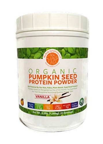 Organic Pumpkin Seed Protein Powder: The World's Best Tasting & Most Complete Plant-Based Protein Powder; Vegan, Paleo -20 Servings Natural Vanilla Flavor - 2.2 lbs.