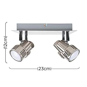Modern Chrome 4 Way GU10 Square Ceiling Spotlight