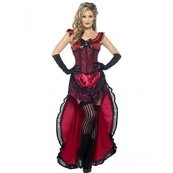 Ladies red saloon girl burlesque brothel babe wild west can can hen ladies red saloon girl burlesque brothel babe wild west can can hen do fancy dress costume solutioingenieria Gallery
