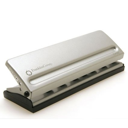 Franklin Covey Four-Sheet Seven-Hole Punch for Classic Style Day Planner Pages, Metal (22997)