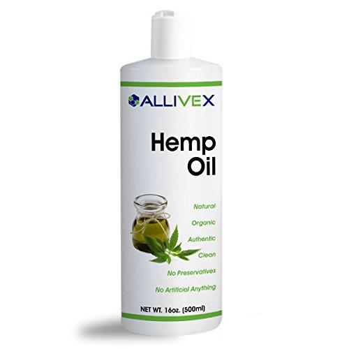 Organic Cold Pressed Unrefined Hemp Oil - 16oz - by Allivex by Allivex