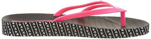 Ipanema Damen Bossa Soft Fem Zehentrenner Schwarz (Black/Pink)