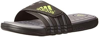 adidas Performance Men's adissage SC Sandal,Black/Grey/Green,6 M US