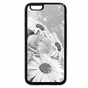 iPhone 6S Case, iPhone 6 Case (Black & White) - Sparkling Flowers For [Inspi]