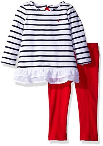 Nautica Baby Girls' Fashion Top With Legging Set Two Piece Set