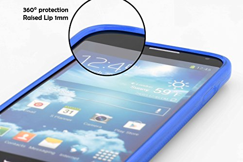 Cadorabo - HTC ONE M9 PLUS / ONE ME Cubierta protectora de silicona TPU en diseño S-Line - Case Cover Funda Carcasa Protección en SEMI-TRANSPARENTE AZUL-ROYAL