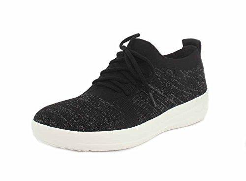 Fitflop Womens Uberknit Sportiva Stringata Sneaker Nera