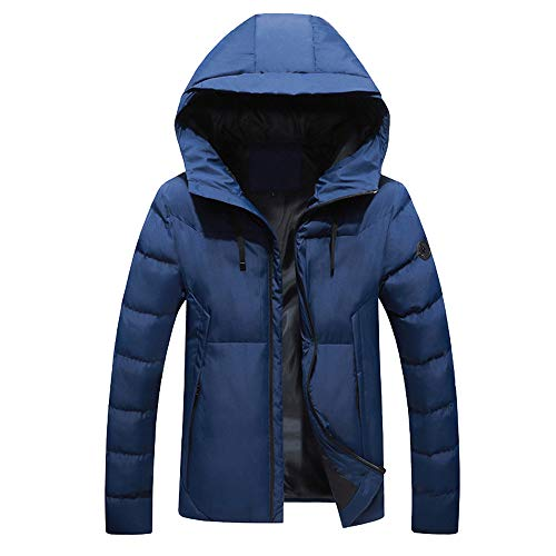 Hommes Hiver Magiyard Veste Chaud Chemisier À Encapuchonné Haut Décontractée Garçons Glissière Manteau Outwear Bleu 1CRqRw4x