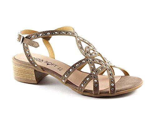 Cinzia Soft IZ77800 Taupe-Schuhe Frauen Sandalen Riemen Beige