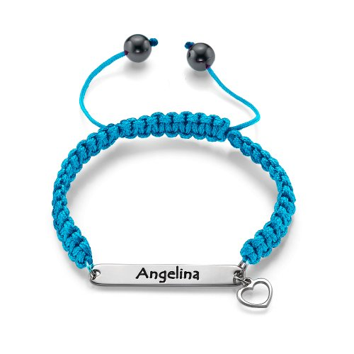 MyNameNecklace Friendship Engraved ID Bracelet - Custom Made Jewelry with any Name or Word