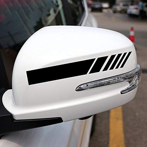 Reflective Auto Decals - ZaCoo 2 Pcs Side Mirror Reflective Decals Stickers for Auto Car Side Mirror L+R Rearview Vehicle Window Vinyl Decal 7.5